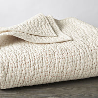 Pebbled Handstitched Organic Quilt - Full/Queen, King, Euro Sham