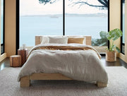 Scattered Embroidered Organic Linen Duvet Cover or Sham