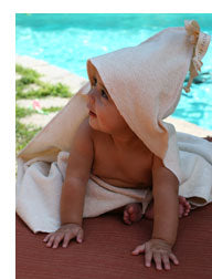 Organic Cotton Hooded Baby Bath Towel & Mitt Set