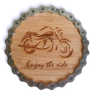 Motorcycle Chain Coaster Sets - Set of 4