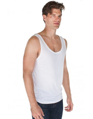 Organic Cotton & Viscose Bamboo Unisex Tank Top: S, M, L or XL