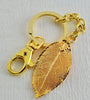 Real Leaf Gold Key Rings