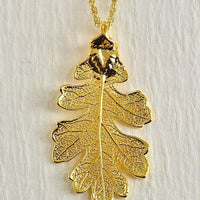 Real Leaves Covered In 18 Karat Gold  Jewelry Sets and Necklaces