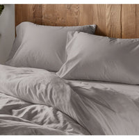 300 Thread Count Organic Sateen Duvet Cover - Twin, Full/Queen, King and Shams