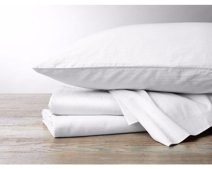 300 Thread Count Organic Sateen Sheets - Fitted Sheets Only - Undyed or White