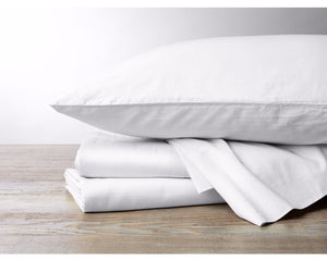 INDIVIDUAL SHEETS - 300 Thread Count Organic Sateen Sheets - Fitted, Flat, & Pillowcases - Undyed or White