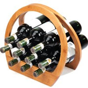 Bamboo Barrel Wine Rack