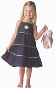 Three Tier Denim Dress - 2T, 3T, and 4T