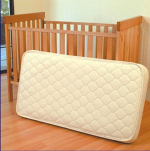 Innerspring: Organic Cotton And Wool Quilted Innerspring Crib Mattress