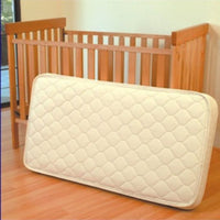 Non-Innerspring: 100% Natural Latex Crib Mattress With Pure Grow Wool and Organic Cotton Quilting