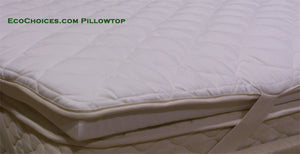Mattress Pillowtops - 100% Natural Latex with organic cotton and wool quilting - Made To Order