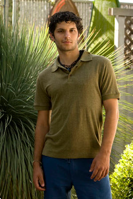 Men's Hemp & Tencel Polo Shirts - S, M, L, XL