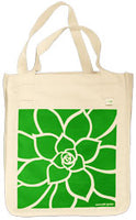 Rosette organic cotton art bag