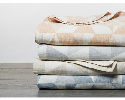 Pismo Organic Cotton Blanket - Throw, Full/Queen, King, & Euro Sham