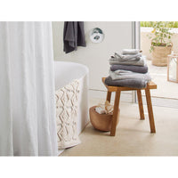 Organic Linen Shower Curtain - Alpine White