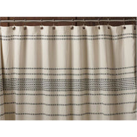 Rippled Organic Cotton Shower Curtain