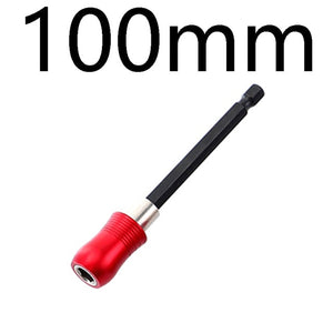 "1/4"" Quick Release Screwdriver Drill Bit Holder60-300mm Magnetic Hex Shank Extension Rod Socket For Screw Bit"