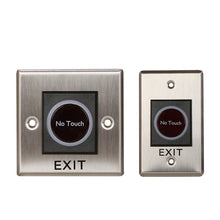 Load image into Gallery viewer, 12V IR No Touch Door Infrared Sensor Touchless Exit Button Switch for Access Control Systems Garage Openers