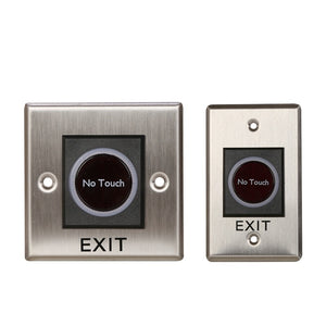12V IR No Touch Door Infrared Sensor Touchless Exit Button Switch for Access Control Systems Garage Openers