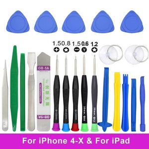 20 in 1 Mobile Phone Repair Tools Kit Tweezers Spudger Pry Screen Opening Tool Screwdriver Set for iPad iPhone X 7 8 5 5s 6 Plus