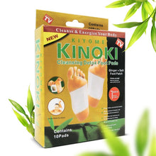 Load image into Gallery viewer, 200pcs/lot GOLD Premium Kinoki Detox Foot Pads Organic Herbal Cleansing Patches (100pcs Patches+100pcs Adhesives) 2019 New