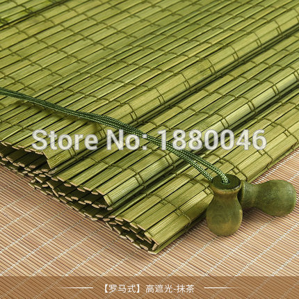 2018 New coming Outdoor wooden window roller blind roller up Bamboo roller blinds chinese bamboo blinds factory