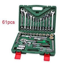 Load image into Gallery viewer, A Set Of Keys For Car Repair Ratchet Wrench Set Universal Socket Head Combination Torque Gear Spanner Collection Hand Tool Kit