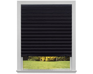 Black self-adhesive pleated blinds blackout window 90x180CM