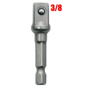 "Chrome Vanadium Steel Socket Adapter Hex Shank to 1/4"" 3/8"" 1/2"" Extension Drill Bits Driver Electrical Drilling Heads"