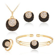 Load image into Gallery viewer, Crescent Necklace Earrings four-piece fashion necklace set fashion jewelry