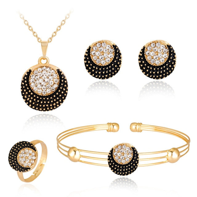 Crescent Necklace Earrings four-piece fashion necklace set fashion jewelry