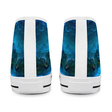 Load image into Gallery viewer, Dream Waves - White High Top Canvas Shoes