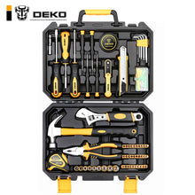 Load image into Gallery viewer, DEKO TZ100 Socket Wrench Tool Set Auto Repair Mixed Tool Combination Package Hand Tool Kit with Plastic Toolbox Storage Case