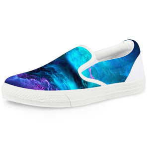 Dream Waves - White Slip On Shoes