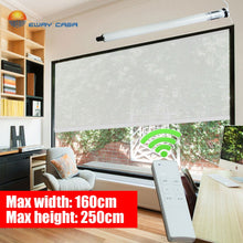 Load image into Gallery viewer, EWAY CASA Tubular Motorized Roller Blinds Motorized Blind Electric Curtain AC220V Limit Switch Quiet 36DB Office No.MRB_MPR_30T