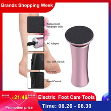 Load image into Gallery viewer, Electric Pedicure Foot Care Tool Files Pedicure Callus Remover Rechargeable Sawing File For Feet Dead Skin Callus Peel Remover