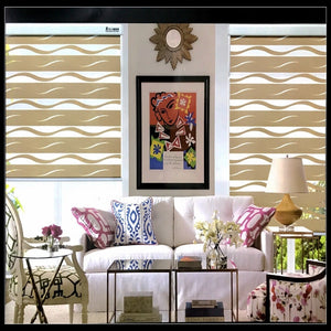 FREE SHIPPING Popular zebra blinds double-layer roller Zebra blinds and zebra blinds  fabric curtain window blinds