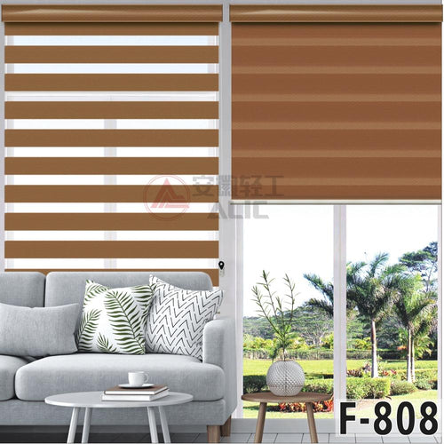 FREE SHIPPING Popular zebra blinds double layer roller blinds for kitchen living room office