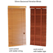 Load image into Gallery viewer, Free Shipping Basswood Venetian Blinds Samples With Small Size Wood Window Blinds Fan Blind Upper And Lower Biparting Open