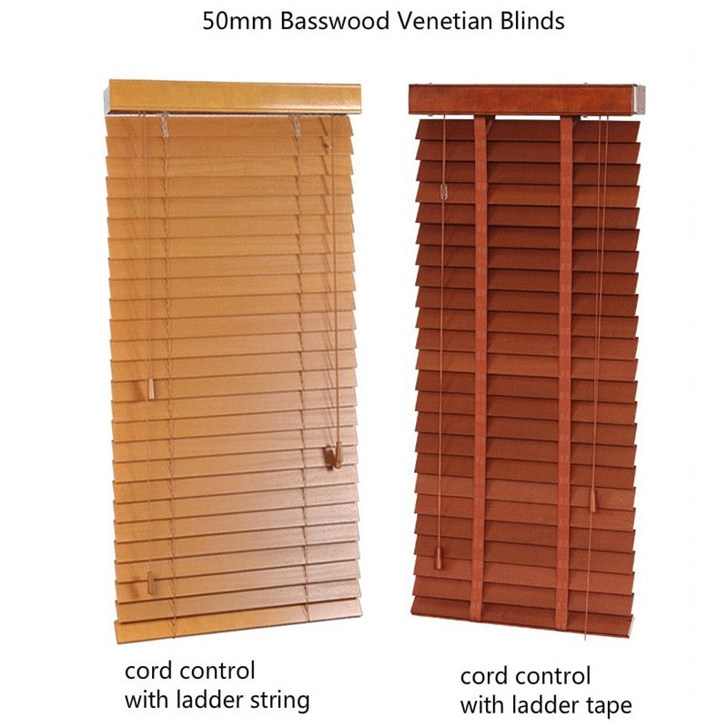 Free Shipping Basswood Venetian Blinds Samples With Small Size Wood Window Blinds Fan Blind Upper And Lower Biparting Open