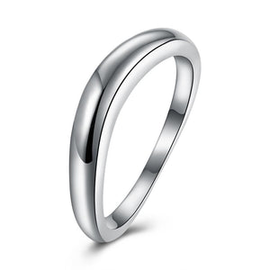 Sterling Silver Curved Sleek Simple Band Ring