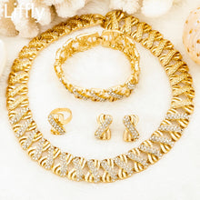 Load image into Gallery viewer, Liffly Nigeria Jewelry Sets for Women Africa Beads Jewelry Set Dubai Gold Wedding Bridal Fashion Jewelry Sets Womens Accessories