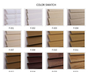 PVC Fauxwood Venetian Blinds Color Swatch Sample