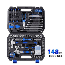 Load image into Gallery viewer, Prostormer 148 Pcs Household Ratchet Wrench Set Hand Tool Set Car Repair Tool Socket Wrench Tool Kit Auto Repair Mixed Tool