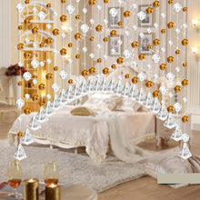 Load image into Gallery viewer, Roller Window Blinds Crystal Glass Bead Curtain Luxury Living Room Bedroom Window Door Wedding Decor cortinas roller persiana