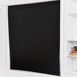 Self-Adhesive Half Blackout Curtains Pleated Blinds Windows For Bathroom Balcony Shades For Living Room Home Window Door