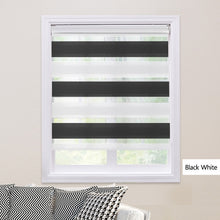 Load image into Gallery viewer, Shell Valance System Transparent Zebra Blinds Double Layer light shading Window Roller Blinds for Living Room Bedroom Study