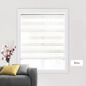 Shell Valance System Transparent Zebra Blinds Double Layer light shading Window Roller Blinds for Living Room Bedroom Study