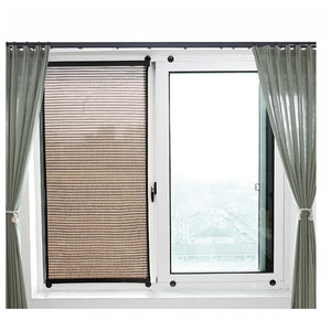 Summer sunscreen roller blinds vertical curtain roll simple paste wall-mounted hollow breathable blackout curtains shades window