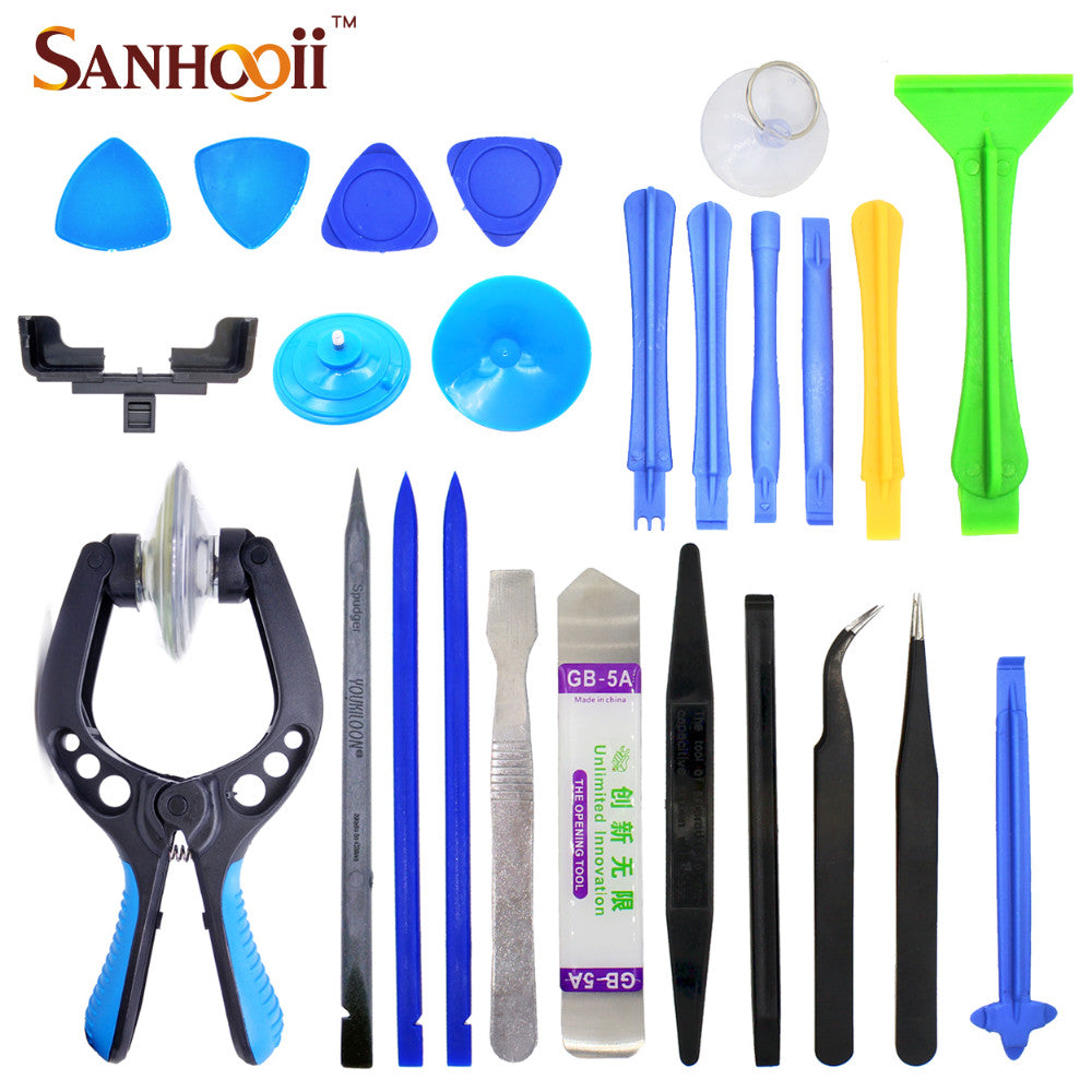 Tools set Kit 24in1 Mobile Phone Screen Opening Plier Repair Tools Tweezers Spudger Pry Tear Down For iPhone iPad HuaWei Tablet